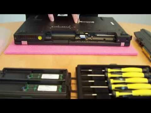 Einbauvideo für Notebooks mit Speicherslots unter der Tastatur (z.B. IBM, Lenovo)