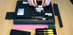 CompuRAM Videoanleitung Speichereinbau Notebook