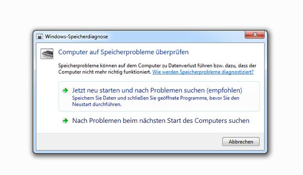 Windows-Speicherdiagnose