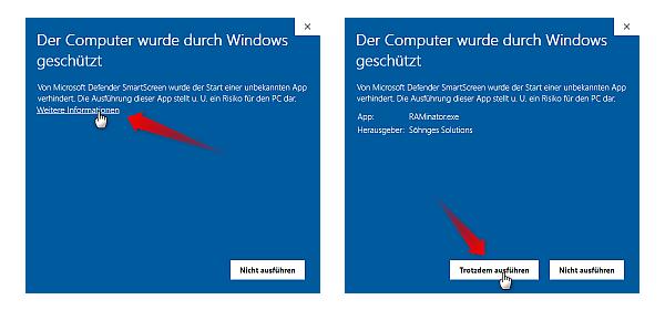 Windows-Hinweis